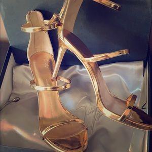 Size 37 Giuseppe Zanotti rose gold Harmony 90